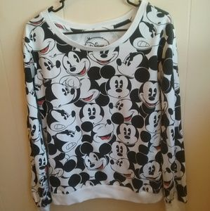 DISNEY MICKEY MOUSE ALLOVER PRINT SWEATSHIRT